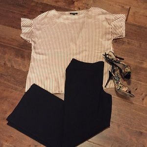 Perfect for work! Silky stripe top